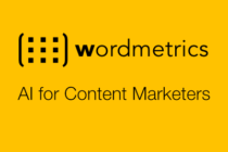wordmetrics AI for content marketers - tagline